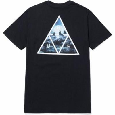 ハフ Huf メンズ Tシャツ トップス lupus noctem short sleeve t-shirt Black
