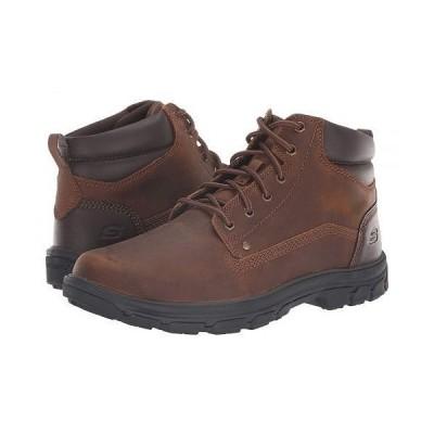 SKECHERS スケッチャーズ メンズ 男性用 シューズ 靴 ブーツ レースアップ 編み上げ Relaxed Fit Segment Garnet - Dark Brown