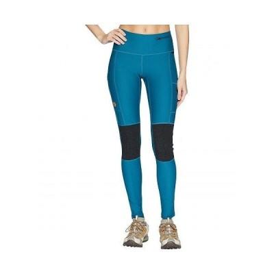 Fjallraven フェールラーベン レディース 女性用 ファッション パンツ ズボン Abisko Trek Tights - Glacier Green