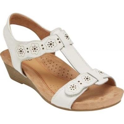ロックポート Rockport レディース サンダル・ミュール シューズ・靴 Cobb Hill Hollywood T Strap Sandal White Leather