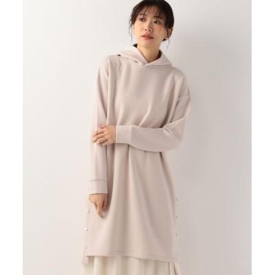 【ミューズ リファインド クローズ】 フードダンボールニットワンピース レディース ベージュ M MEW'S REFINED CLOTHES
