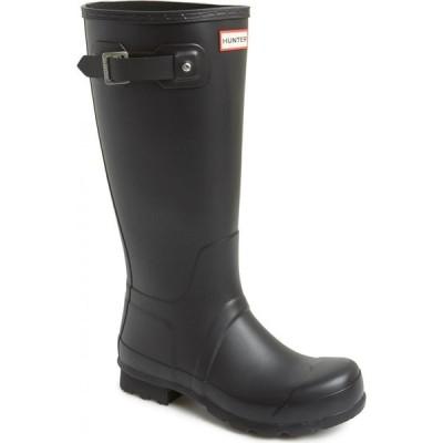 ハンター HUNTER メンズ レインシューズ・長靴 シューズ・靴 'Original Tall' Rain Boot Black