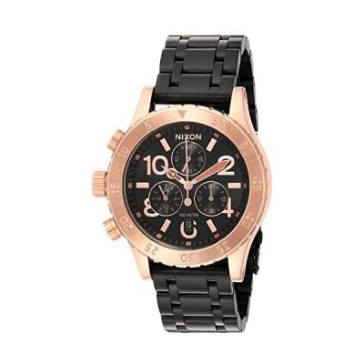 【並行輸入品】Nixon Women's '38-20 Chrono' Quartz Metal and Stainless Steel Watch, Color:Black (Model: A4042481-00)