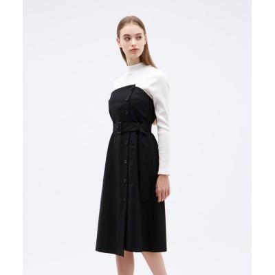 【ラブレス】 テレココンビモックドレス レディース ブラック 36 LOVELESS