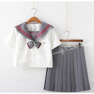 女子高校制服セーラー服シャツフリルスカート女の子セーラー服女子制服スクールウェア長袖 半袖卒業式 入学式コスチュームパーティグッズ