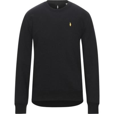 WALTBAY メンズ スウェット・トレーナー トップス sweatshirt Black