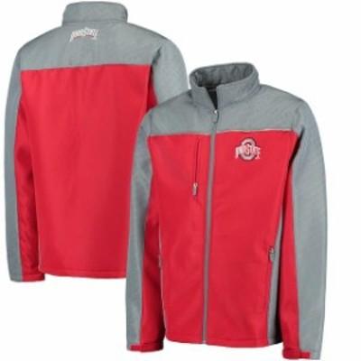 J America Sportswear ジェイ アメリカ スポーツウェア スポーツ用品  Ohio State Buckeyes Scarlet Marlo Debossed Colorblock Softshel