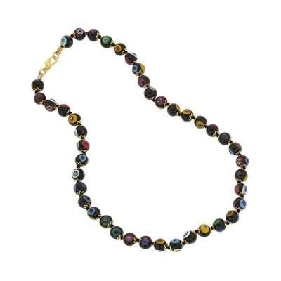 GlassOfVenice Murano ガラス Mosaic ネックレス - ブラック(海外取寄せ品)