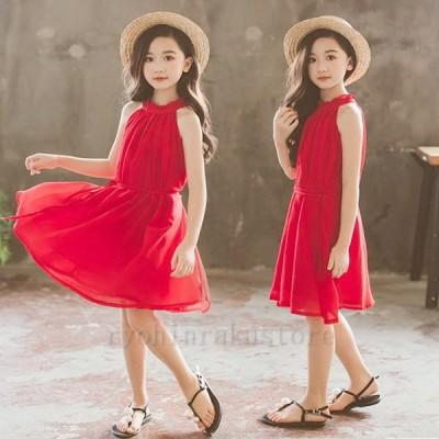 韓国子供服 ワンピース キッズ 夏服 リゾートワンピ ハワイアン ノースリーブワンピ 女の子 夏服 同窓会 110 120