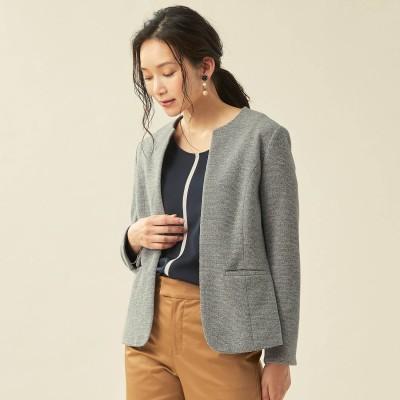 着心地の良いツィードジャケット【腕はり(R)】(スタイルノート/StyleNote)