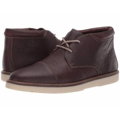 Clarks クラークス メンズ 男性用 シューズ 靴 ブーツ チャッカブーツ Grandin Top Dark Brown Tumbled【送料無料】