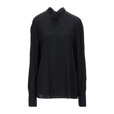 MALÌPARMI ブラウス ブラック 48 シルク 96% / 指定外繊維(その他伸縮性繊維) 4% ブラウス
