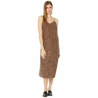 メイドウェル ワンピース トップス レディース Printed Slip Dress Brushed Leopard Warm