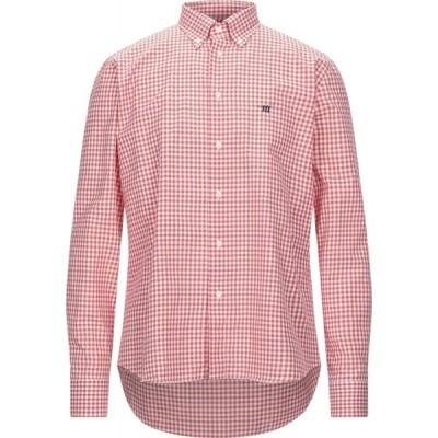 ヘンリーコットンズ HENRY COTTON'S メンズ シャツ トップス checked shirt Red