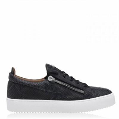 ジュゼッペ ザノッティ GIUSEPPE ZANOTTI メンズ スニーカー シューズ・靴 Snake Print Trainers Black/Grey