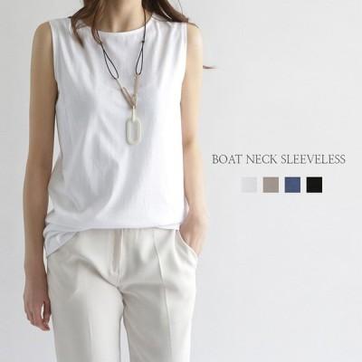 ノースリーブ シャツ tシャツ 夏 春 レディース 黒 白 おしゃれ トップス シンプルノースリーブ メール便可