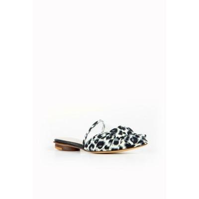 オール ブラック レディース サンダル シューズ Women's Jungle Bow Slide Sandal