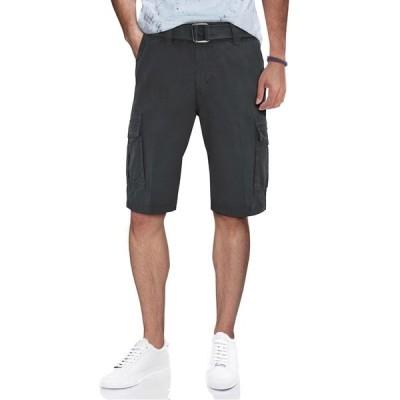 エックスレイ メンズ カジュアルパンツ ボトムス Belted Snap Button Cargo Shorts CHARCOAL