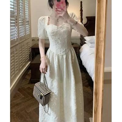 ドレス プリンセス風風立体感生地ドレス