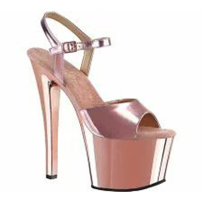 Pleaser レディースサンダル Pleaser Sky 309 Rose Gold Metallic P