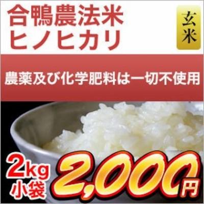 令和元年産(2019年) 合鴨農法米 ヒノヒカリ 2kg 【玄米】 農薬及び化学肥料は一切不使用【米袋は真空包装】