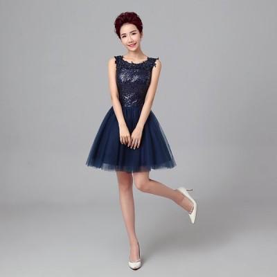 イブニングドレス パーティードレス 安い 可愛い ミニドレス カラードレス ウエディングドレス ドレス 発表会 演奏会 結婚式 披露宴
