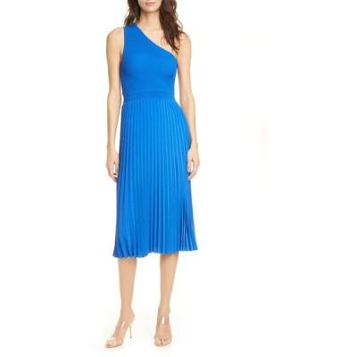 テッドベーカー ワンピース トップス レディース Miriom One-Shoulder Knit Midi Dress Brt-Blue