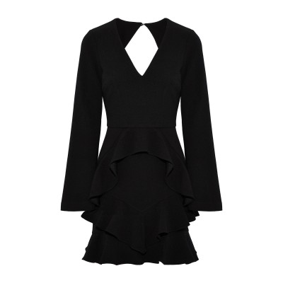 REBECCA VALLANCE ミニワンピース&ドレス ブラック 4 ポリエステル 97% / ポリウレタン 3% ミニワンピース&ドレス