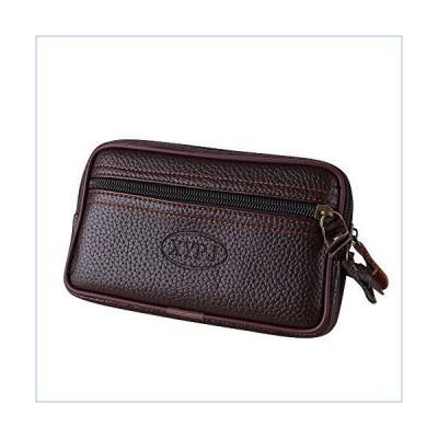 TheRang Men Vintage Pure color Wallet Leather Messenger Bag Coin Bag Phone Bag Clutch Waist Bag並行輸入品