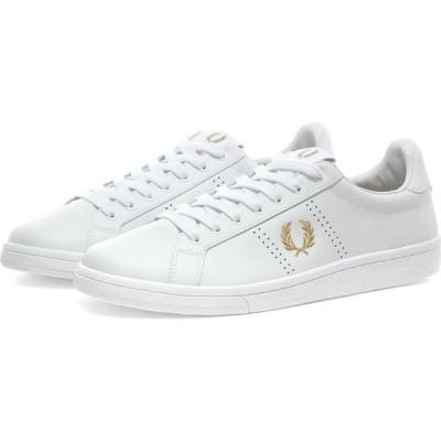 フレッドペリー Fred Perry Authentic メンズ スニーカー シューズ・靴 b721 leather sneaker White/Gold