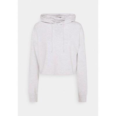 エブンアンドオッド パーカー・スウェットシャツ レディース アウター BASIC - Cropped oversized hoodie - Hoodie - white