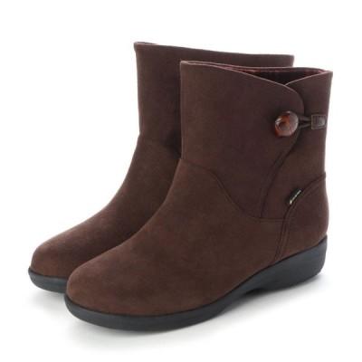 定価20,900円 madras Walk MWL2109 マドラスウォーク ゴアテックス GORE-TEX レディース ショートブーツ 幅広 防滑ソール 透湿防水 婦人 靴 ダークブラウン