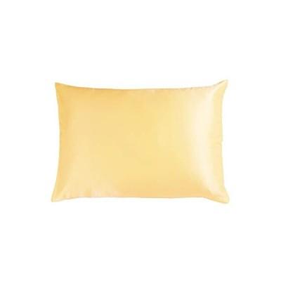 シルク枕カバー 絹 100 子供用 35X50cm まくらカバー 洗濯 19匁天然ピローケース 静電気を防ぐ (ゴールド 35X50cm)