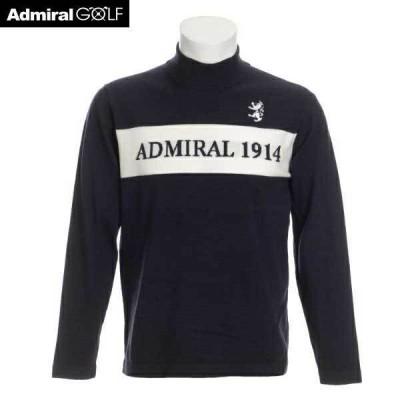 ADMIRAL アドミラル ゴルフ メンズウェア ロゴ ハイネックニット ADMA065 30 ネイビー M:AWM665/L:AWM666