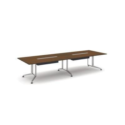 コクヨ品番 WT-WB304W05 会議テーブル WT300 長方形突板天板配線付 塗装脚 W3600xD1200xH720 WT−300