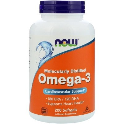 ナウフーズ オメガ3 200錠 NOW FOODS Omega-3 200 Softgels