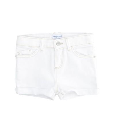 MAYORAL デニムショートパンツ ホワイト 4 コットン 98% / ポリウレタン 2% デニムショートパンツ