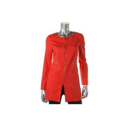 コート&ジャケット アウター 防寒 Laundry by Shelli Segal Laundry by Shelli Segal 2453 レディース レッド Collarless Outerwear ジャケット Coat 12 BHFO