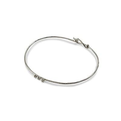スリム 3ストーン バングル シルバー リル Lilou SLIM 3 STONE BANGLE silver
