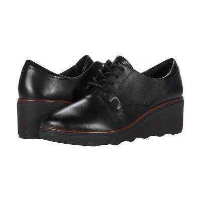 Clarks クラークス レディース 女性用 シューズ 靴 オックスフォード ビジネスシューズ 通勤靴 Mazy Hyannis - Black Leather