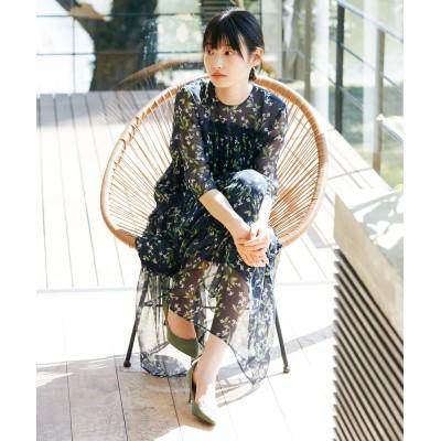 【Rythme KUMIKYOKU】Lemonフラワープリント ドレス