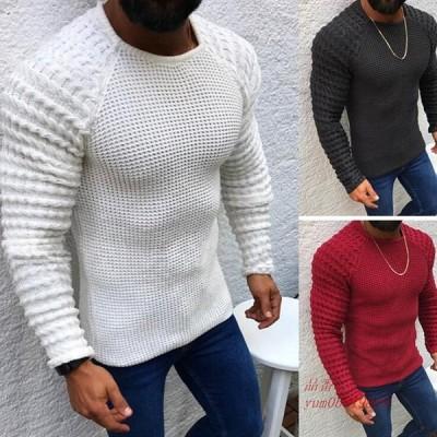 ニットセーター メンズ おしゃれ クルーネック 30代 セーター 50代 秋冬 40代 ニット 20代 長袖 メンズファッション