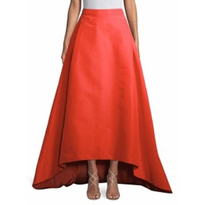 キャロライナヘレラ レディース スカート Silk Hi-Lo Skirt
