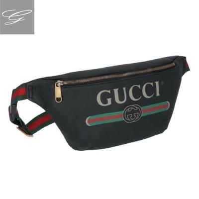 【20SS SALE】グッチ/GUCCI バッグ メンズ Gucci Print ボディバッグ/ベルトバッグ NERO 2020年春夏 530412-0GCCT-8164【ロゴアイテム】