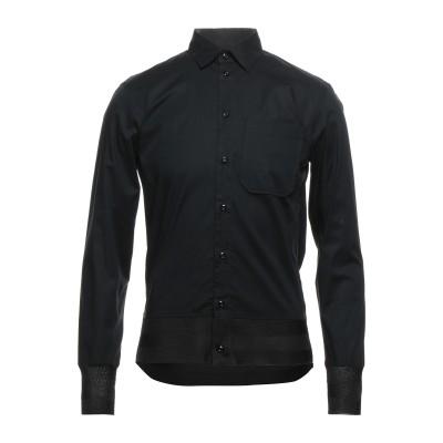 エンポリオ アルマーニ EMPORIO ARMANI シャツ ブラック 38 コットン 97% / ポリウレタン 3% / レーヨン シャツ