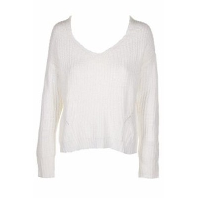 American  ファッション トップス American Rag teenagers Ivory Long Sleeve Lace-Up-Back
