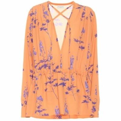 ドリス ヴァン ノッテン Dries Van Noten レディース ブラウス・シャツ トップス Floral crepe blouse Peach