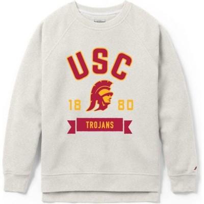 リーグレガシー League-Legacy レディース スウェット・トレーナー トップス USC Trojans Oatmeal Academy Crew Sweatshirt