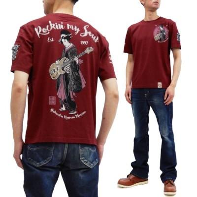 爆裂爛漫娘 半袖Tシャツ B-R-M 爆烈 Tシャツ Rockin' My Soul RMT-309 エフ商会 ワイン 新品
