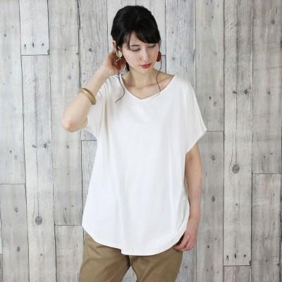 アットワン atONE VネックドルマンTシャツ (OFFWHITE)